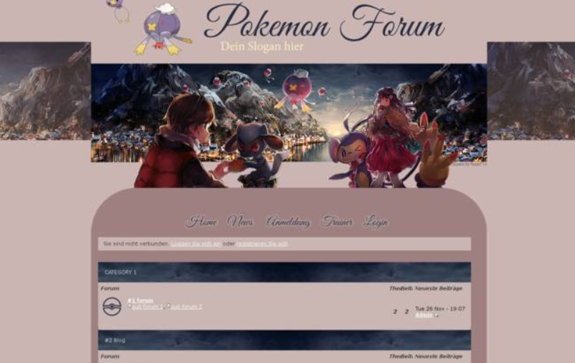Forumieren - Pokémon Layout Pokemonwinterland